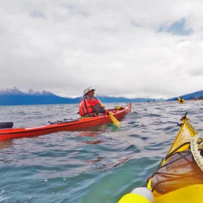Kayak en Parque Nacional Tierra del Fuego